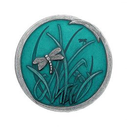Dragonfly Teal Pewter Purse Mirror
