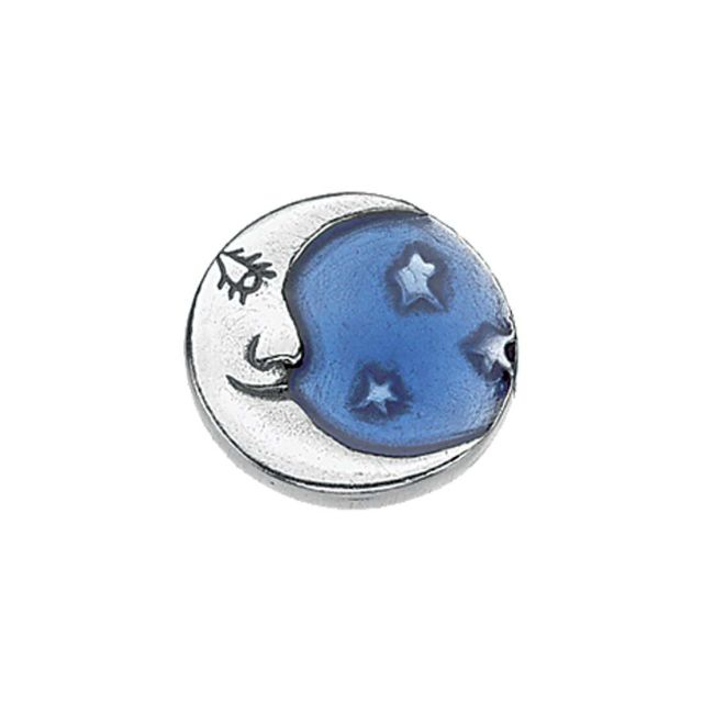 Moon / Blue Scatter Pin