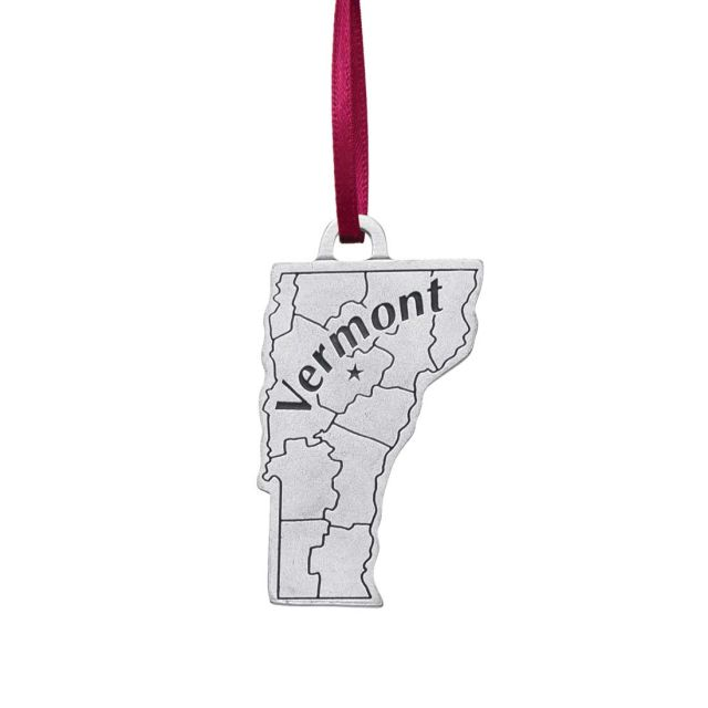 Vermont state pewter ornament