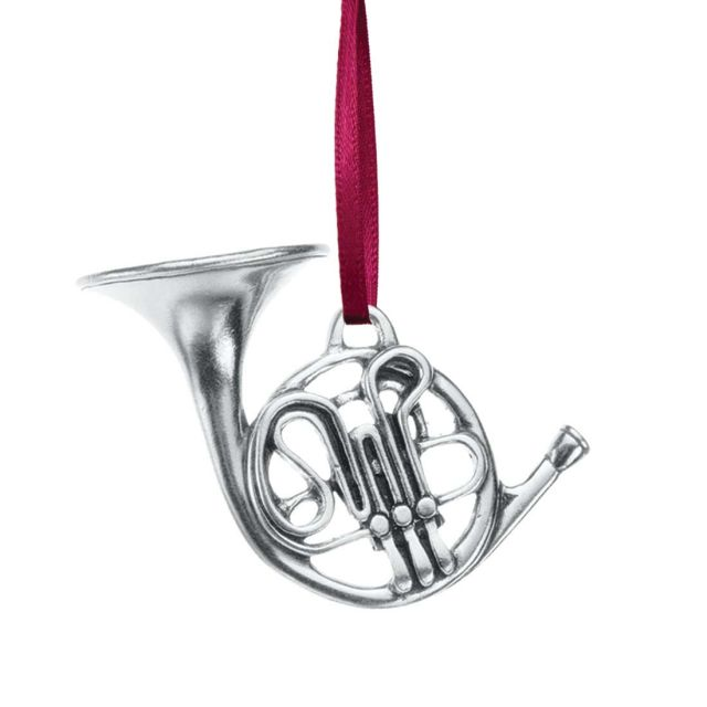 1998 Annual French Horn pewter ornament