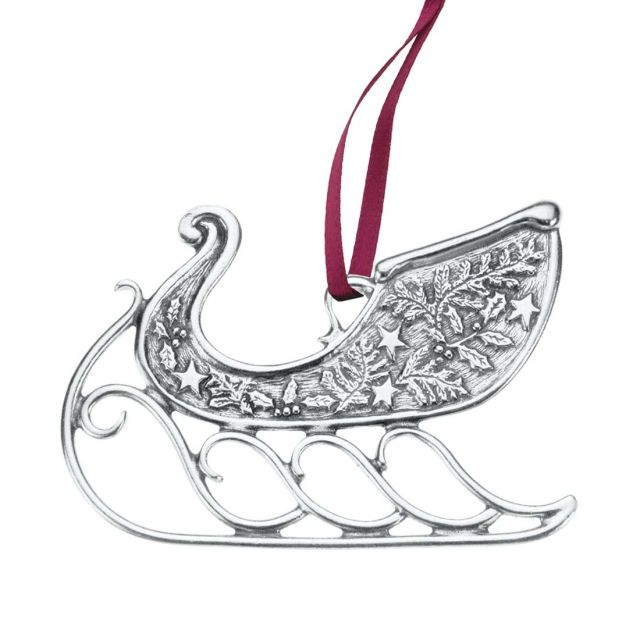 1992 Vermont Sleigh annual pewter ornament