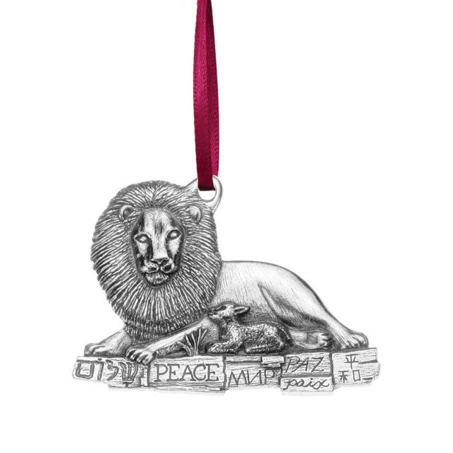 1993 Lion and Lamb annual pewter ornament