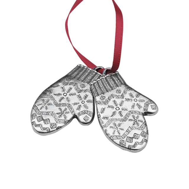 2002 Mittens annual pewter ornament