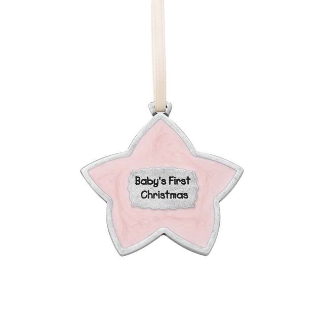 Baby's First Christmas / Pink Ornament