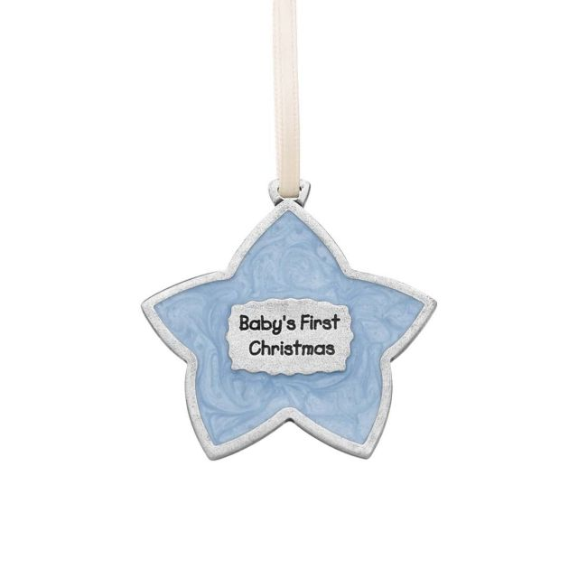 Baby's First Christmas / Blue Ornament