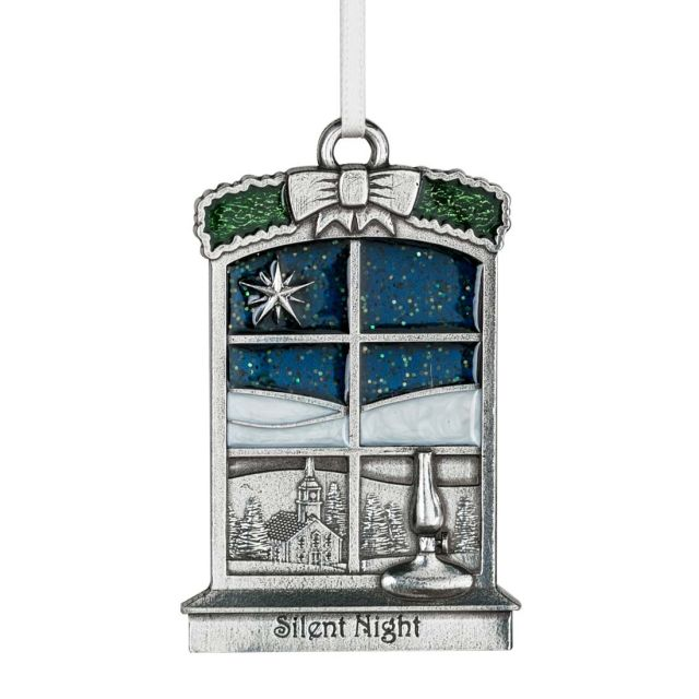 Silent Night pewter ornament