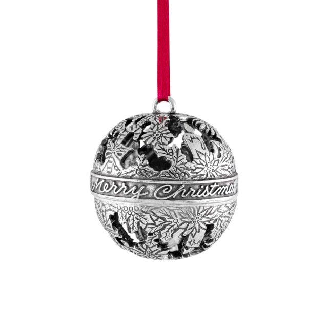 Candy Canes & Candles Globe Ornament