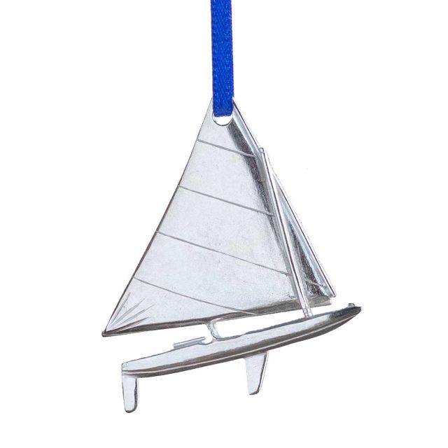 Sailboat pewter ornament