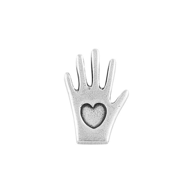heart in hand pewter milagro