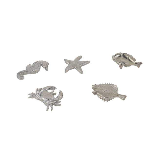 Bag of pewter sea creatures