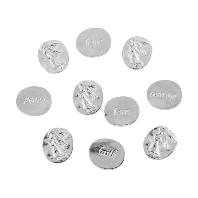 Muse pewter angel pocket charms