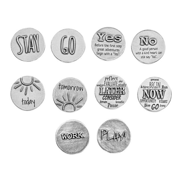 Bag of Decisions Pocket Charms - 5 coins