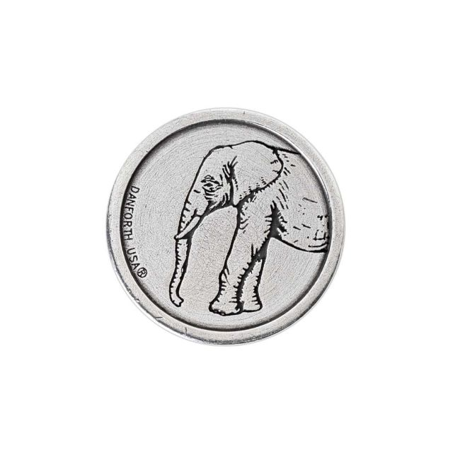Elephant Heads/Tails Pewter decision pocket coin