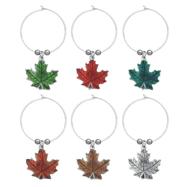 Maple Leaf Wine Glass Markers