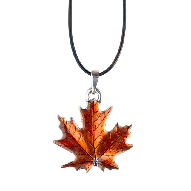 """Maple Leaf / Autumn Corded 16""""-18"""" Necklace"""