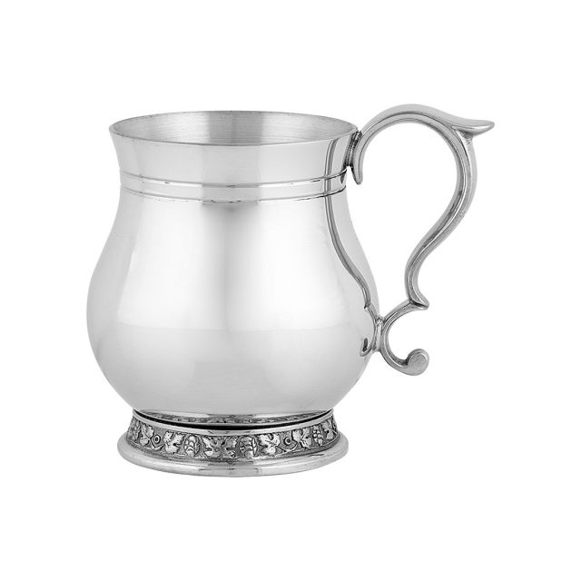 Decorative Pewter Baby Cup