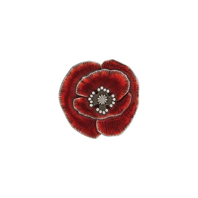 remembrance red poppy pewter magnet