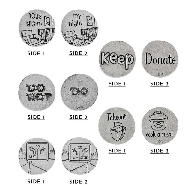 bag of simplicity pewter coins silo