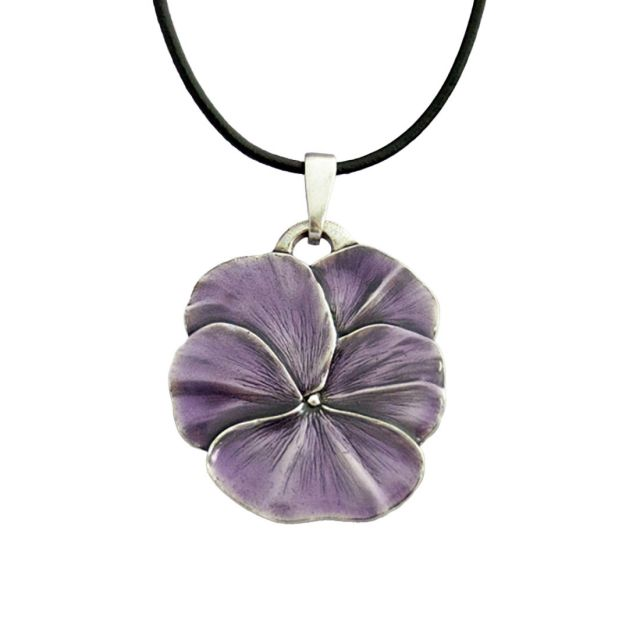 """Pansy / Purple Corded 16""""-18"""" Necklace"""