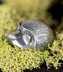 Hedgehog Pewter-Netsuke