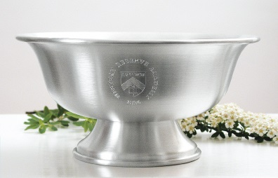 engraved footed bowl